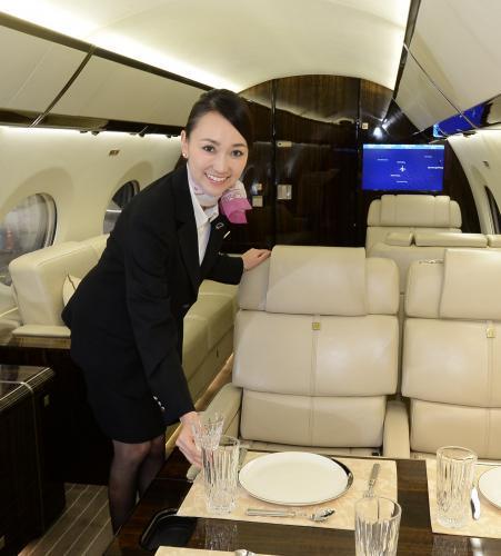 プライベートジェット専門の客室乗務員